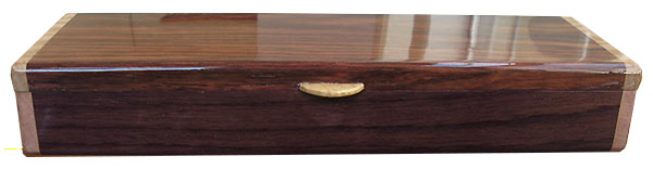 Indian rosewood pill box front - Handmade wood weekly pill organizer