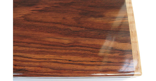 Indian rosewood pill box top close up - Handmade weekly pill organizer