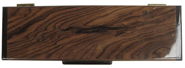 Bolivian rosewood pill box top - Weekly pill organizer
