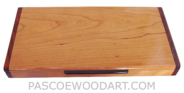 Handcrafted wood pill box - 3 times a day weekly pill organizer made of solid cherry with cocobolo ends