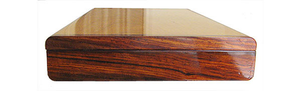 Cocobolo pill box end - Handcrafted weekly pill organizer