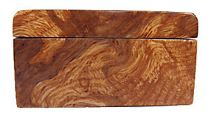 Decorative weekly pill box - Maple burl left end