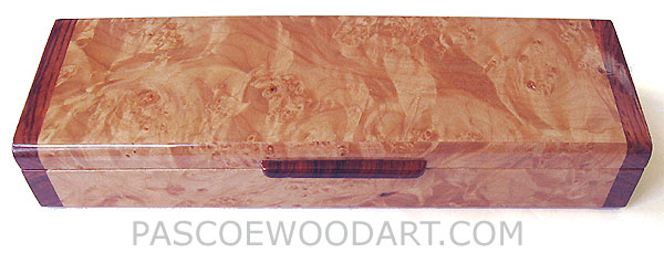 Decorative wood weekly pill box made of maple burl, bubinga - Handmade 7 day pill organizer