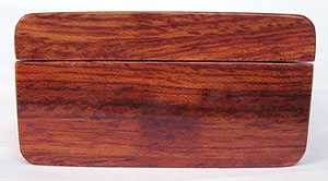 Bubinga pill box end - Decorative weekly pill organizer