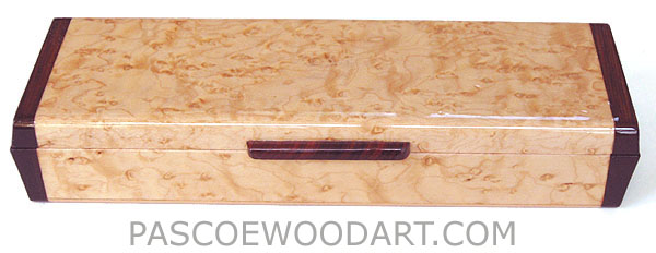 Decorative wood weekly pill box - Handmade wood 7 day pill organizer made of bird's eye maple, cocobolo