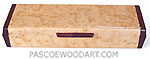 Decorative wood weekly pill box made of bird's eye maple with cocobolo ends
