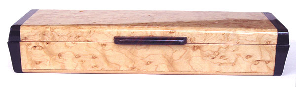 Weekly pill box front view - Decorative wood weekly pill organizer