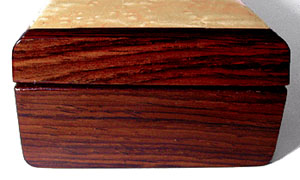 Cocobolo pill box end - Decorative weekly pill box