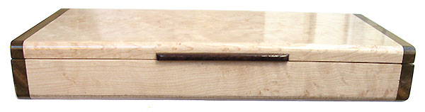 Birds eye maple pill box front - Handmade wood pill organizer