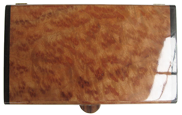 Camphor burl pill box top - Handmade wood twice a day weely pill organizer