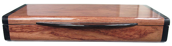 Bubinga pill box front - Handcrafted  twice a day  wood pill organizer