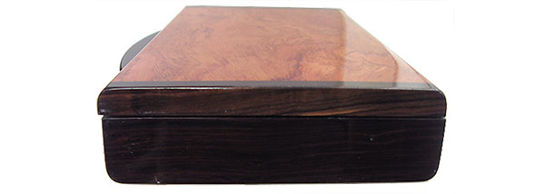 African blackwood pill box end - Handcrafted wood pill organizer