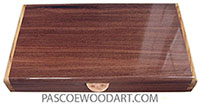 Handcrafted wood pill box - Twice a day weekly pill organizer made of Santos rosewood with Mediterranean olive ends