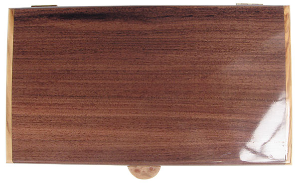 Santos rosewood pill box top - Handcrafted wood twice a day pill organizer
