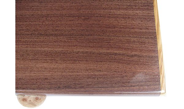 Santos rosewood box top - close up - Handcrafted wood pill box