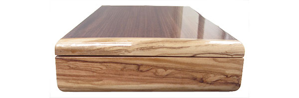 Mediterranean olive pill box end - Handcrafted wood pill box