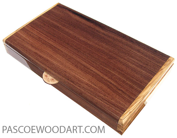 Handcrafted wood pill box - Twice a day weekly pill organizer made o Santos rosewood with Mediterranean olive ends