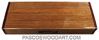 Handmade wood twice a day weekly pill organizer made of bengi with cocobolo ends