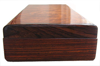 Cocobolo pill box end - Handmade decorative weekly pill organizer