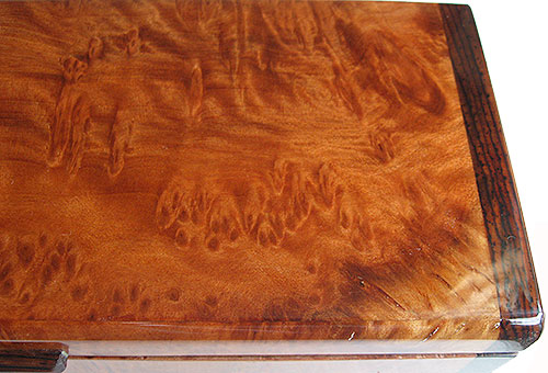 Redwood burl pill box top close up