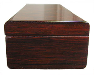 Cocobolo weekly pill box end - Handmade decorative wood weekly pill organizer