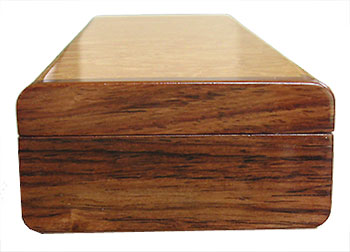 Rosewood pill box end - Handmade decorative wood weekly pill organizer