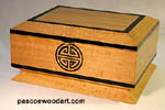 Ceylon Satinwood box with African ebony trim