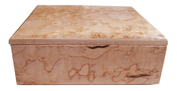 Bird's eye maple box back view - Handmade small wod box
