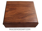 Handmade small wood box - Decorative small keepsake box made of Santos rosewood