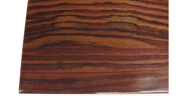 East Indian rosewood box top close up