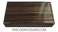 Handmade small wood box - Keepsake box made of macassar ebony