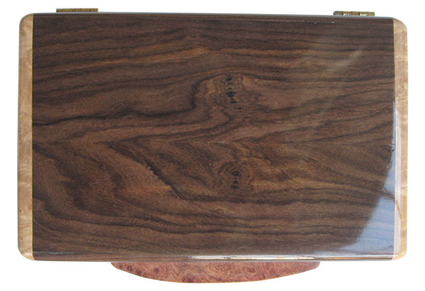 Santos rosewood box top - Handcrafted small wood box