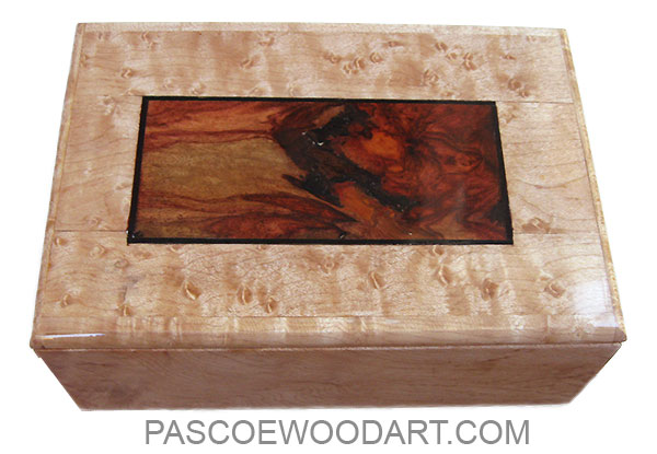 Handmade small wood box - Decorative small keepsake box made of birds eye maple with amboyna  sc 1 st  Pascoeu0027s Wood Art & Handmade Wood Box - Small Keepsake Box: Birdu0027s Eye Maple Amboyna Burl Aboutintivar.Com