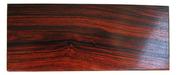 Cocobolo box top - Handmade wood small and slim keepssake box