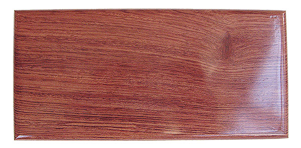 Bubinga box top - Handmade decorative wood small and slim keepsake box or pen box