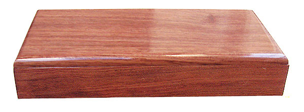 Bubinga box front - Handmade decorative small wood box