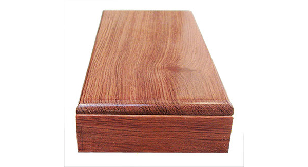 Bubinga box end - Handmade decorative small box