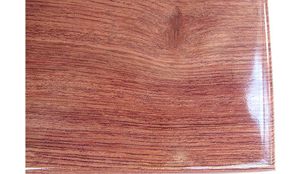 Bubinga box top close up - Handmade decorative wood box