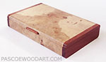 Spalted maple burl small wood box