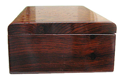 Cocobolo box end - Handmade small wood box