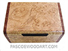 Handmade small wood box - Decorative small keepsake box made of maple burl with bubinga ends
