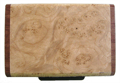 Maple burl box top - Handmade small wood box
