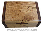 Handmade small wood box - Decorative small keepsake box made of spalted maple with cocobolo ends
