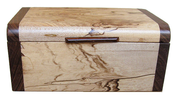 Spalted maple box front - Handmade small wood box - Decorative keepsake box