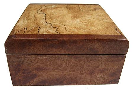 Camphor burl box end - Handmade small wood box