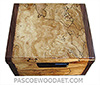 Handmade small wood box - Decorative small keepsake box made of blackline spalted maple burl with Santos rosewood ends