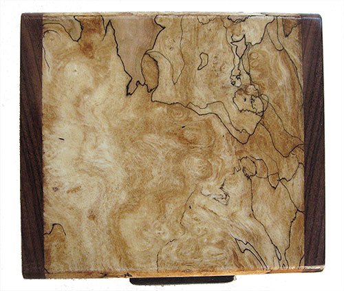 Blackline spalted maple burl box top - Handmade small wood box