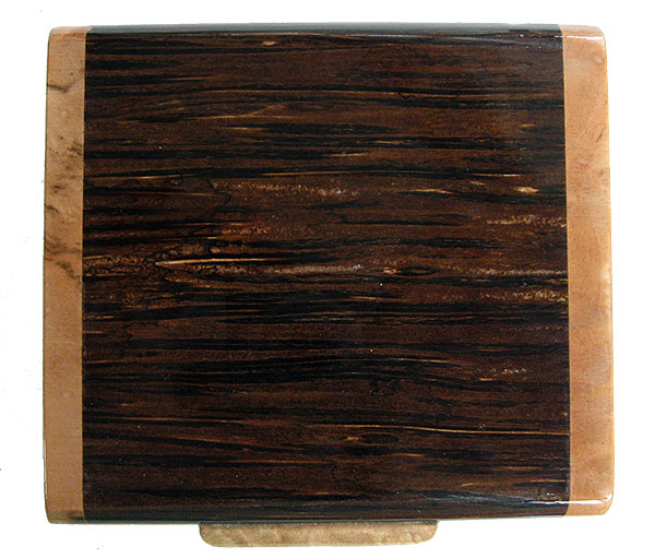 Black palm box top - Handmade small wood box, decorative small keepsake box