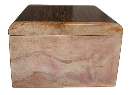 Spalted maple burl box end - Handmade small wood box