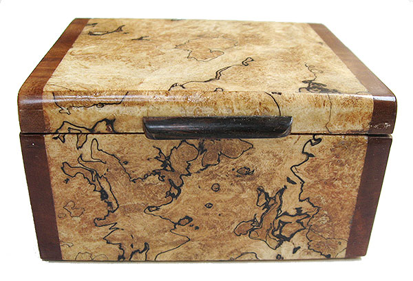 Blackline spalted maple burl box front - Handmade small wood box - decorative small wood keepsake box
